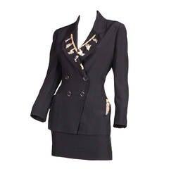 Karl Lagerfeld Embellished Suit, 1990s