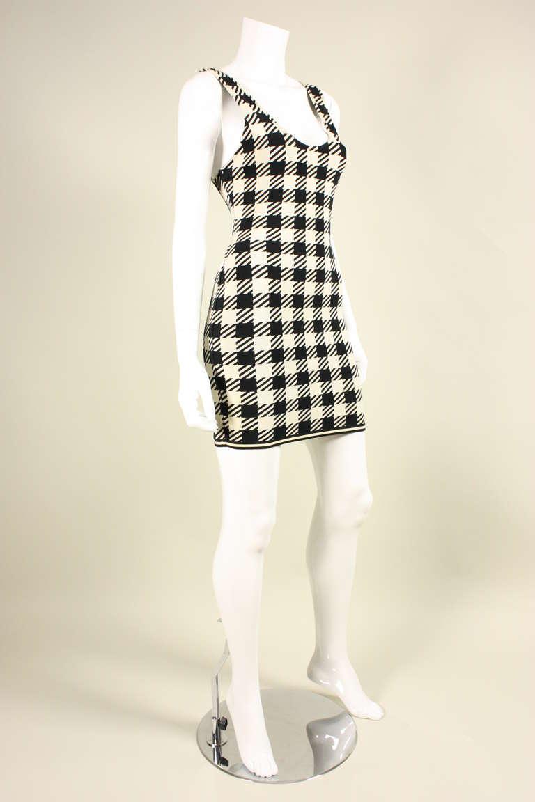 1991 Alaia Black and White Tati Bodycon Dress 3