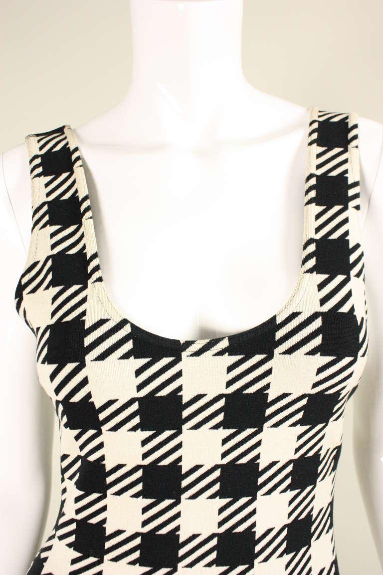1991 Alaia Black and White Tati Bodycon Dress 6