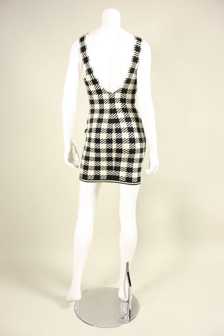 1991 Alaia Black and White Tati Bodycon Dress 5