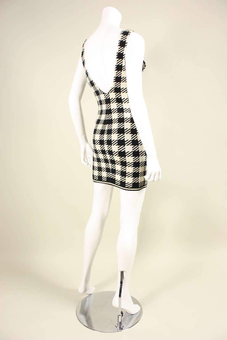 1991 Alaia Black and White Tati Bodycon Dress 4