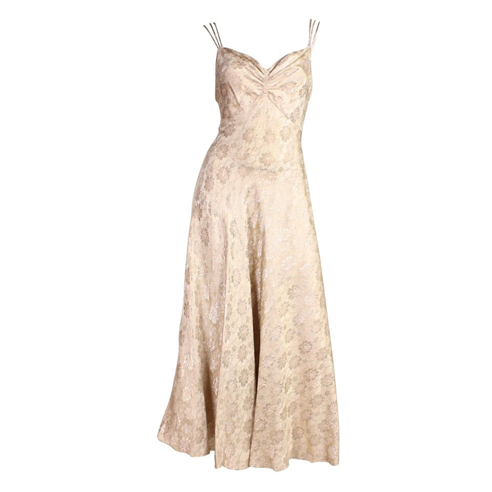 1930 S Lam 233 Bias Cut Evening Dress For Sale At 1stdibs