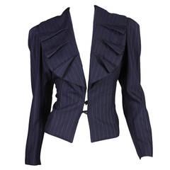 1990's Norma Kamali Pinstriped Blazer