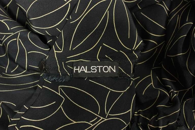 1970's Halston Printed Wrap Dress 7