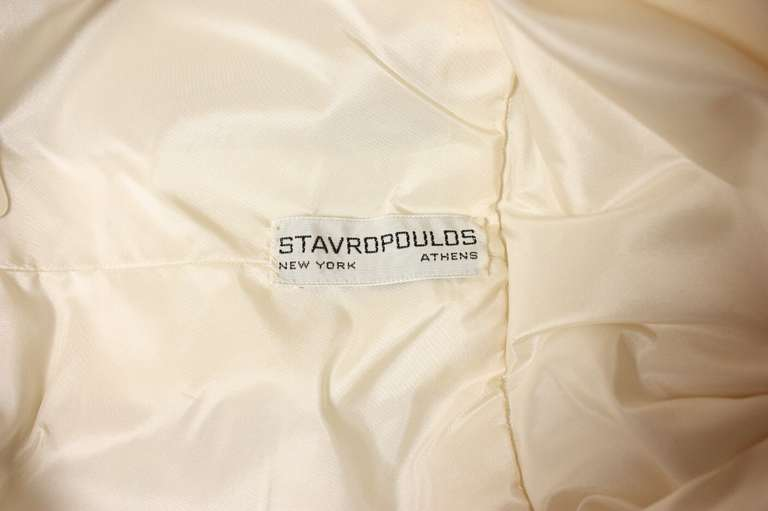 Stavropoulos Net Gown with Allover Flower Applique For Sale 5