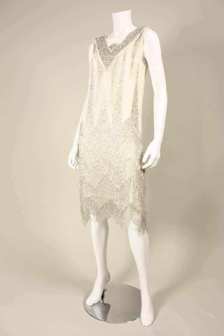 1980's Bob Mackie Beaded Flapper Dress 2