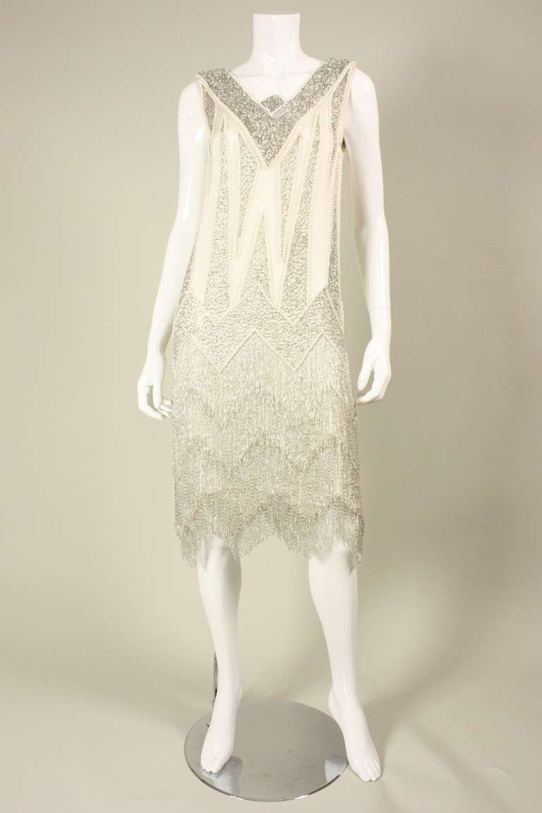 1980's Bob Mackie Beaded Flapper Dress 3
