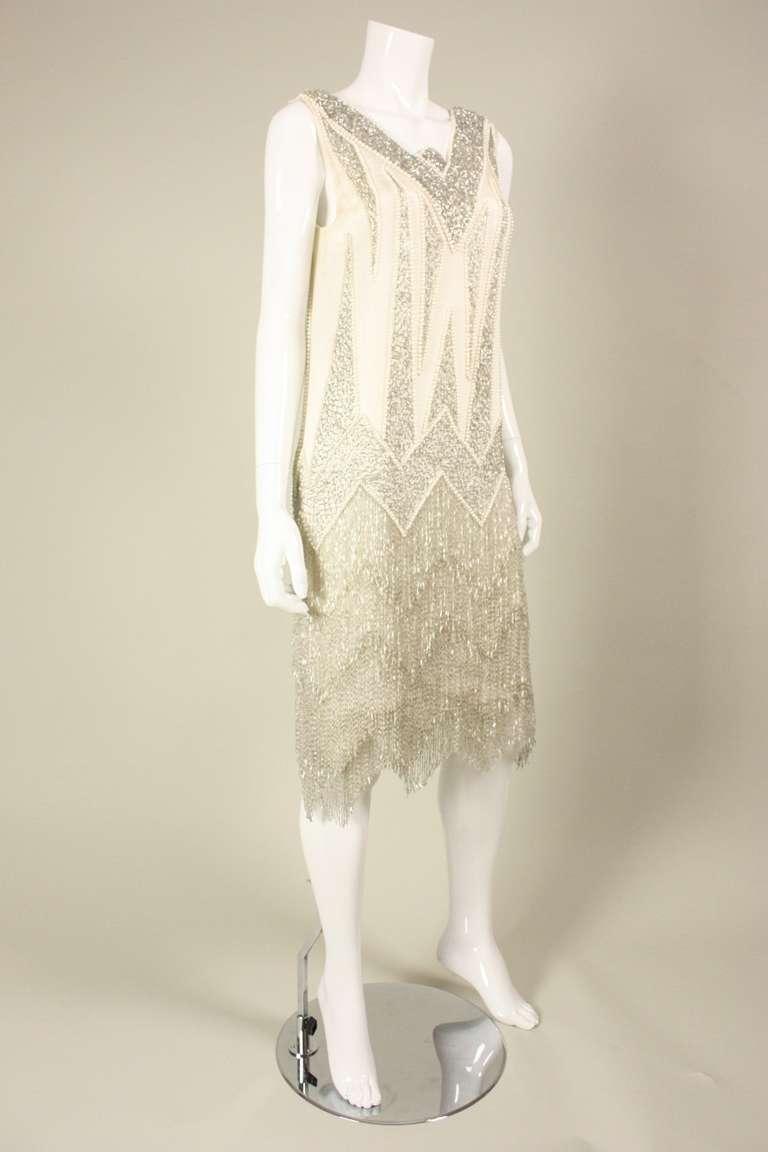 1980's Bob Mackie Beaded Flapper Dress 4