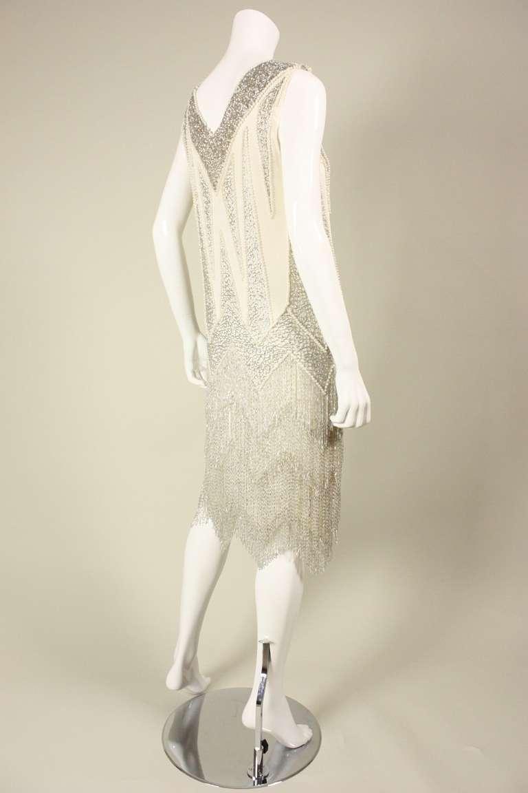 1980's Bob Mackie Beaded Flapper Dress 5