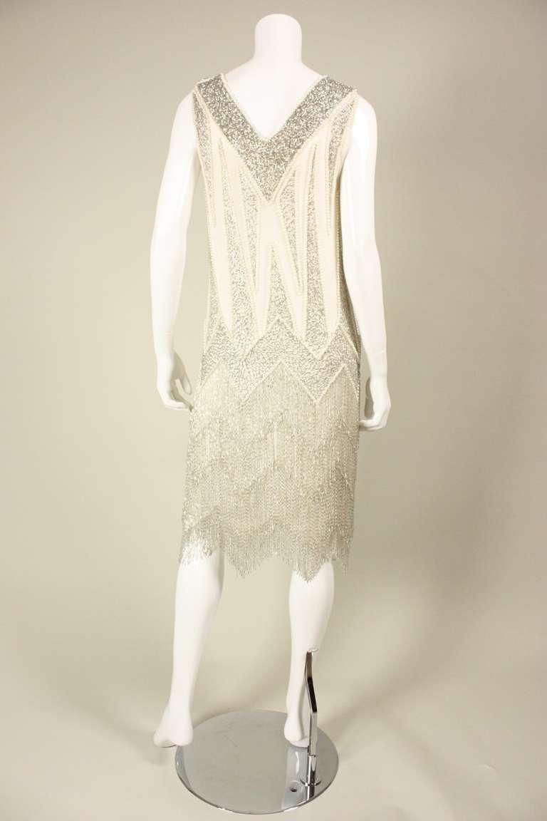 1980's Bob Mackie Beaded Flapper Dress 6