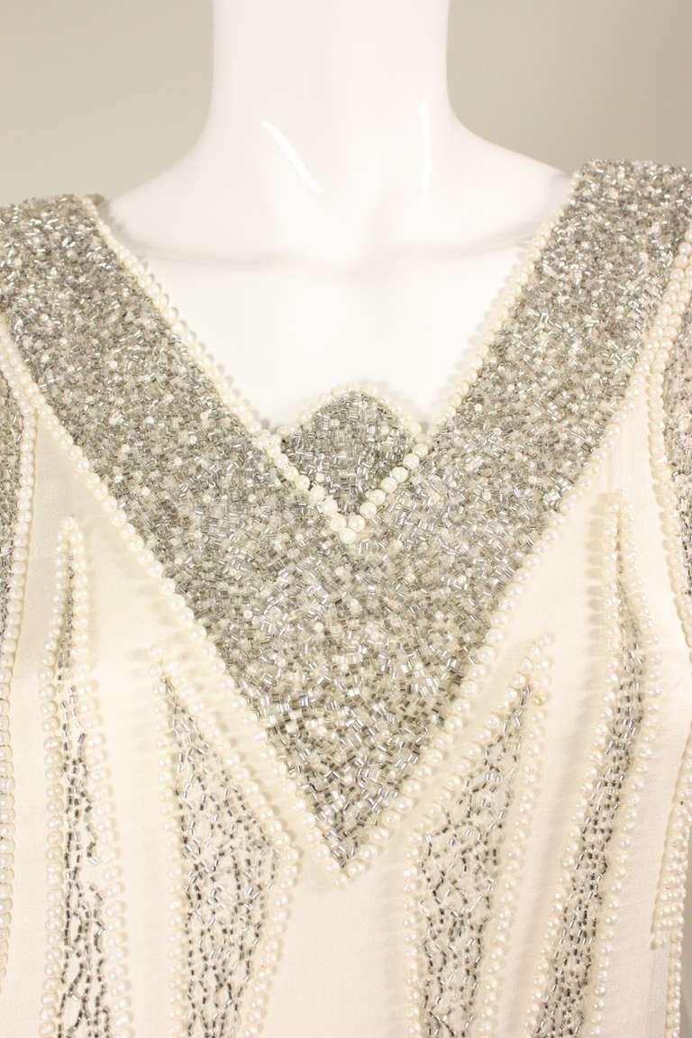 1980's Bob Mackie Beaded Flapper Dress 8