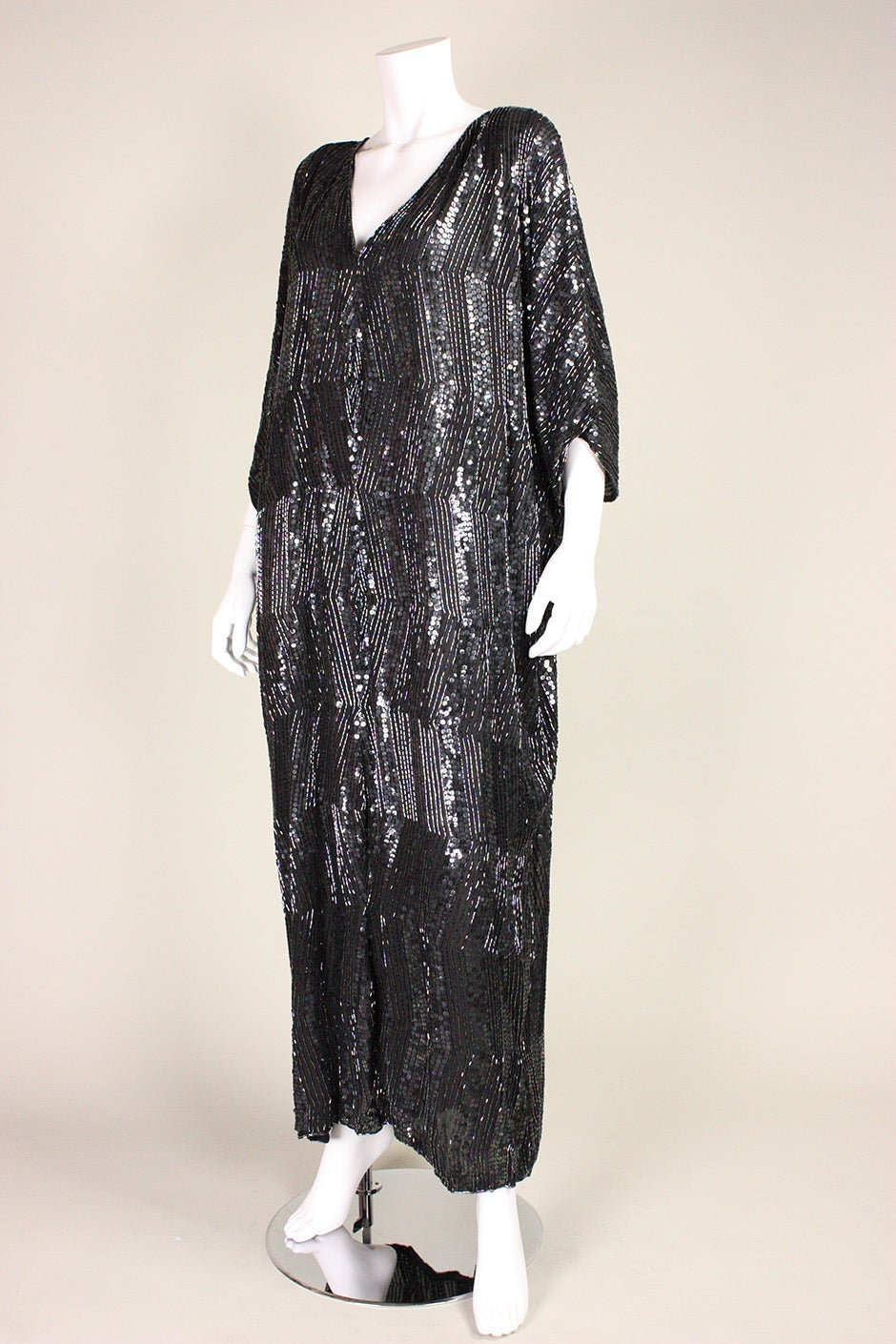 1980's Judith Ann Sequined Caftan In New Never_worn Condition For Sale In Los Angeles, CA