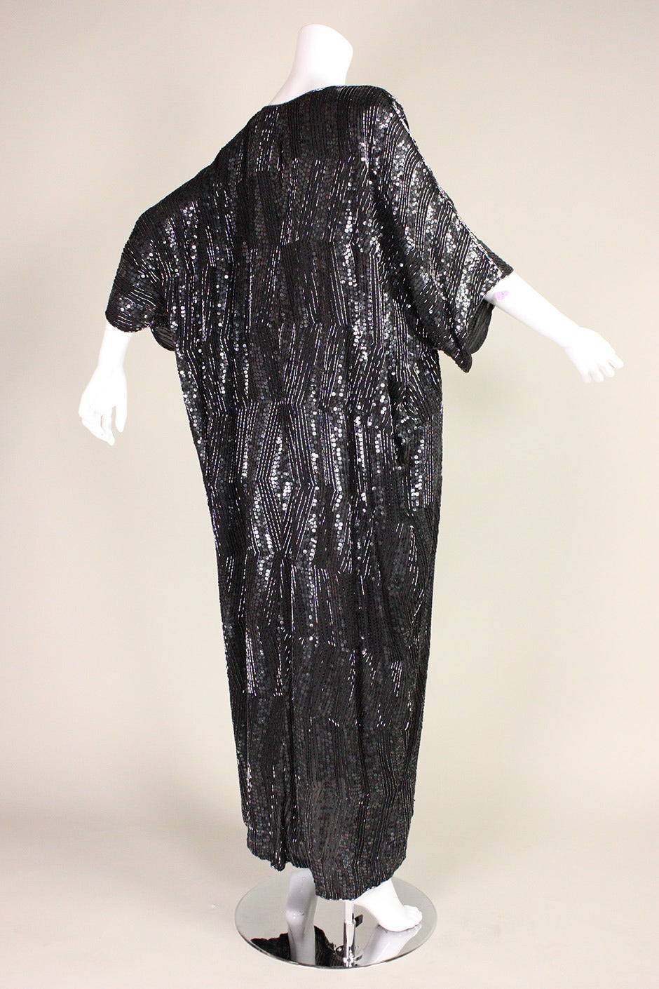 Women's 1980's Judith Ann Sequined Caftan For Sale