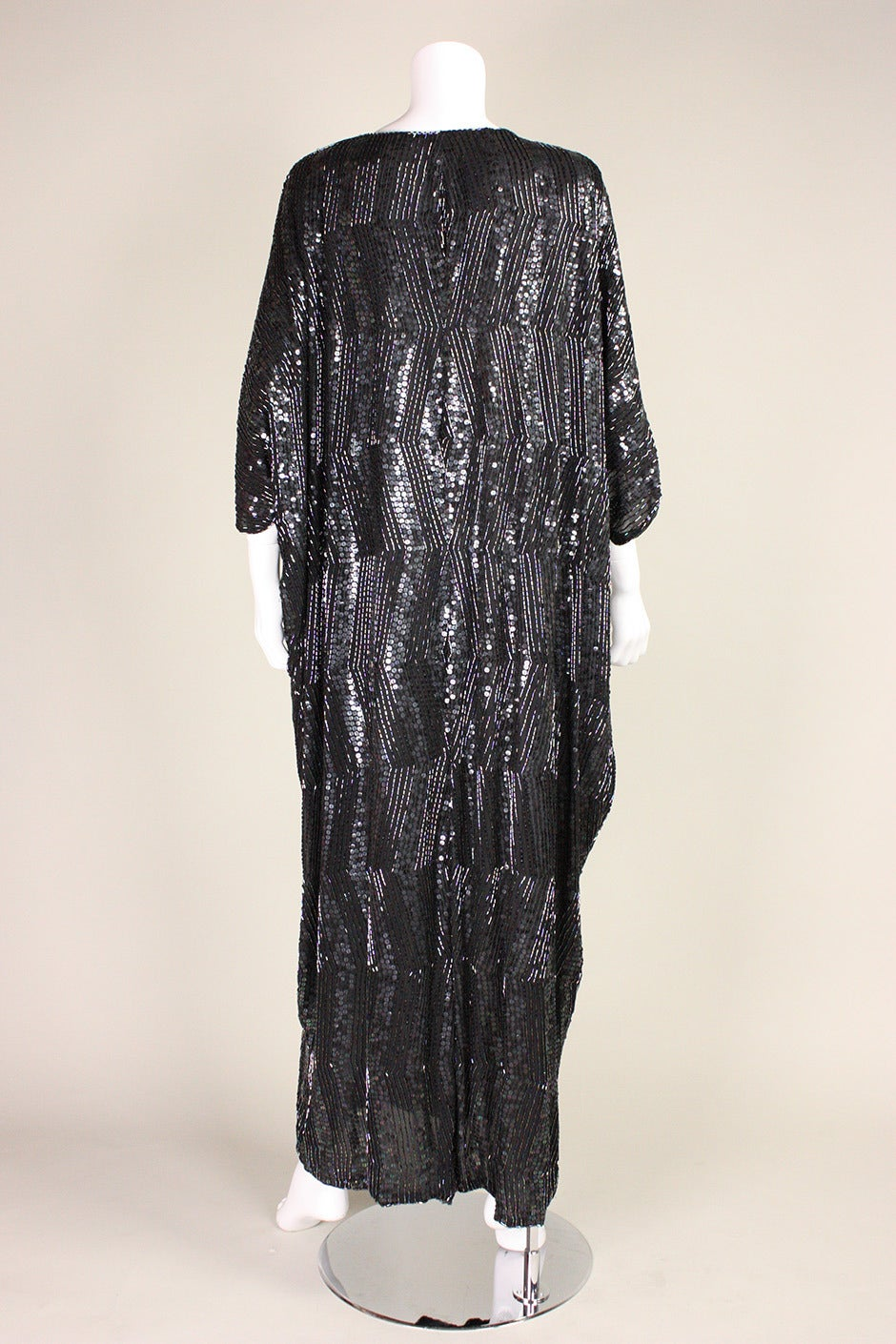 1980's Judith Ann Sequined Caftan For Sale 1