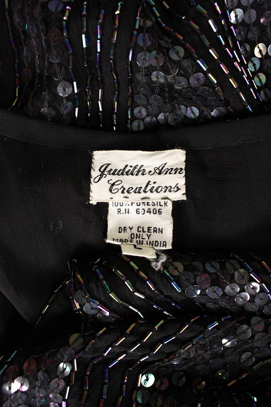1980's Judith Ann Sequined Caftan For Sale 5