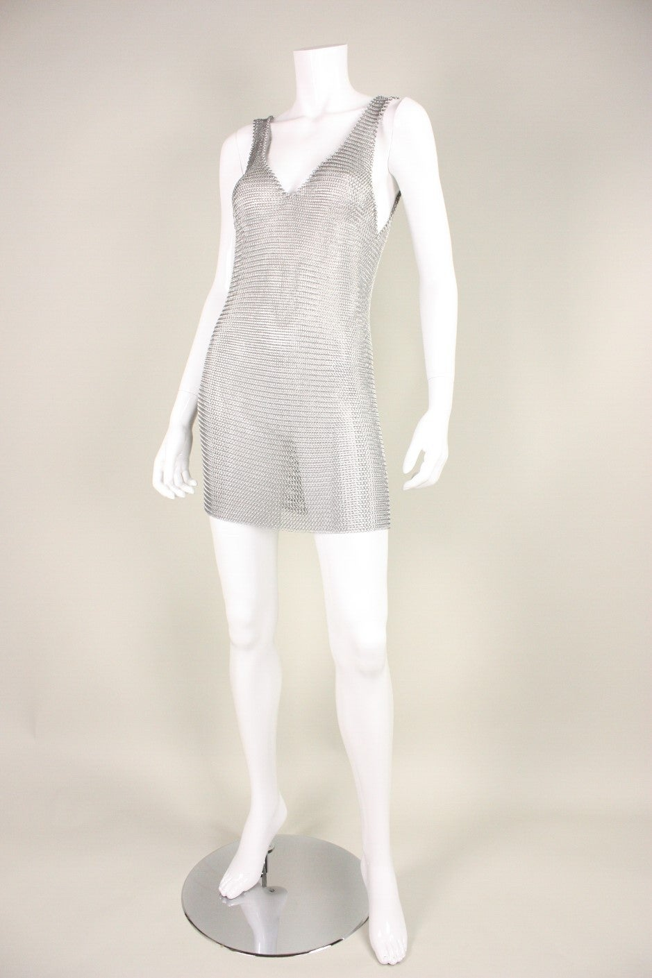 1980's Michael Schmidt Handmade Chainmail Dress 2