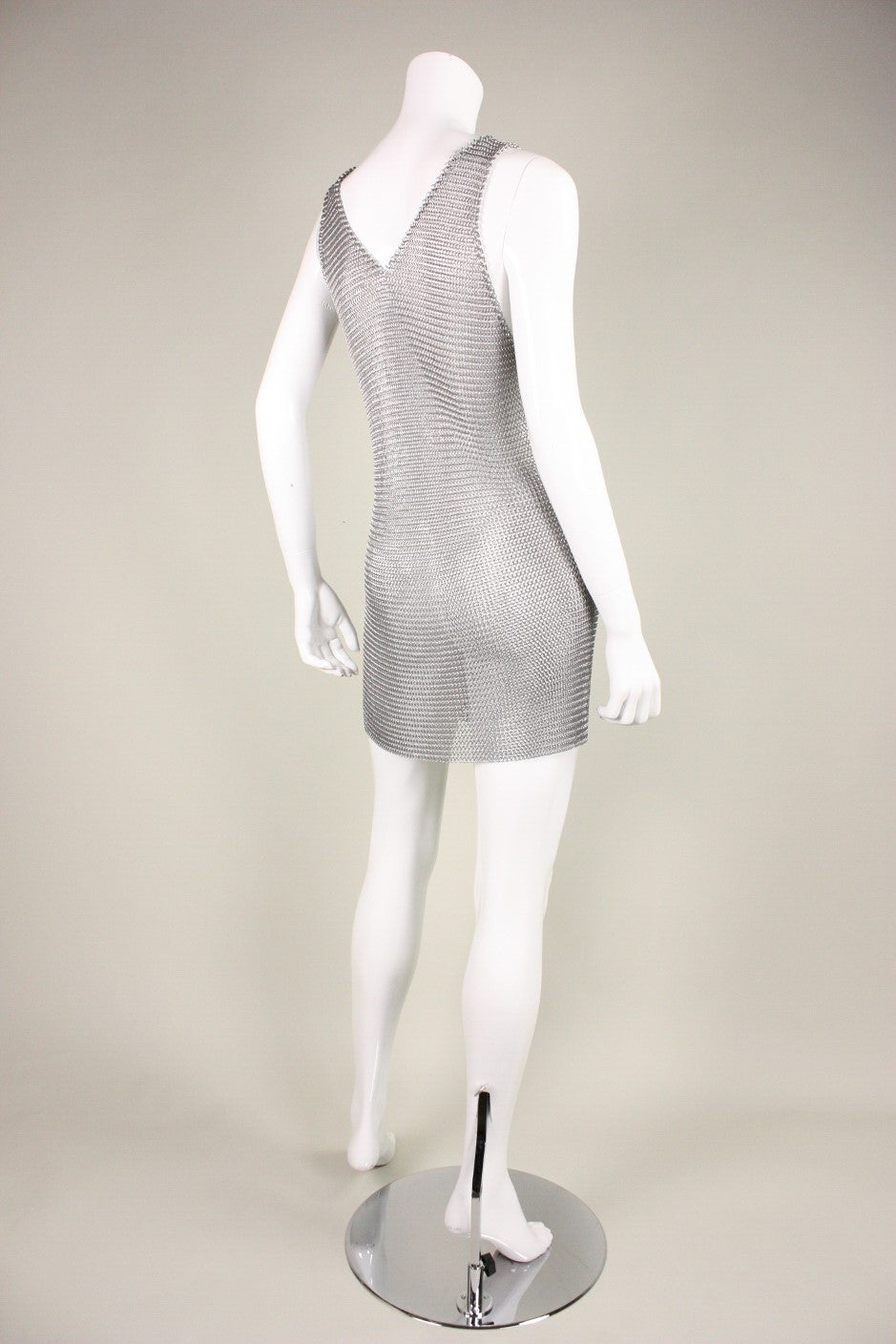 1980's Michael Schmidt Handmade Chainmail Dress 3