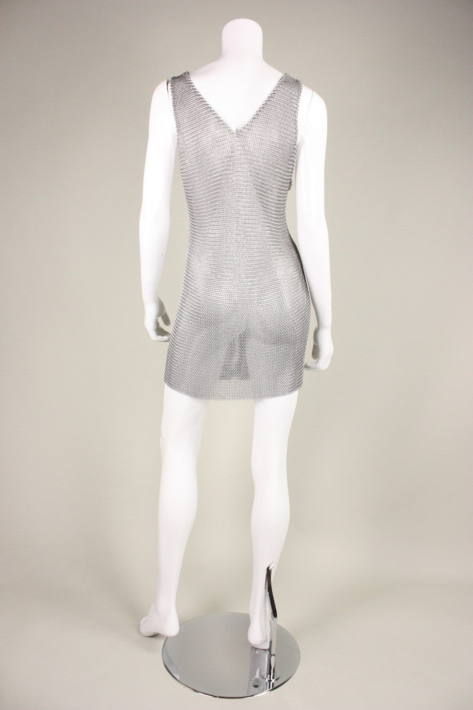 1980's Michael Schmidt Handmade Chainmail Dress 4