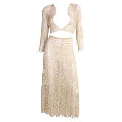 Cream Cotton Lace Ensemble, 1930s