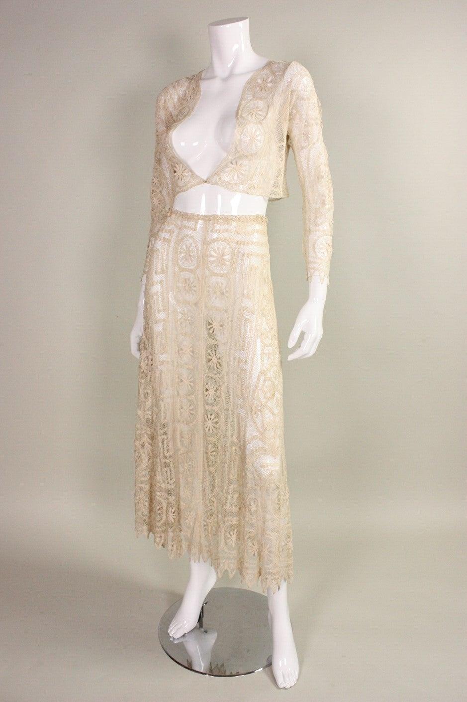 1930's Cream Cotton Lace Ensemble 2