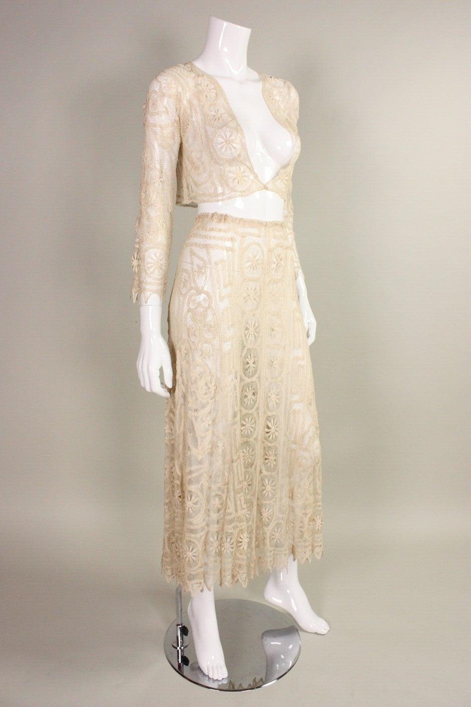 1930's Cream Cotton Lace Ensemble 3