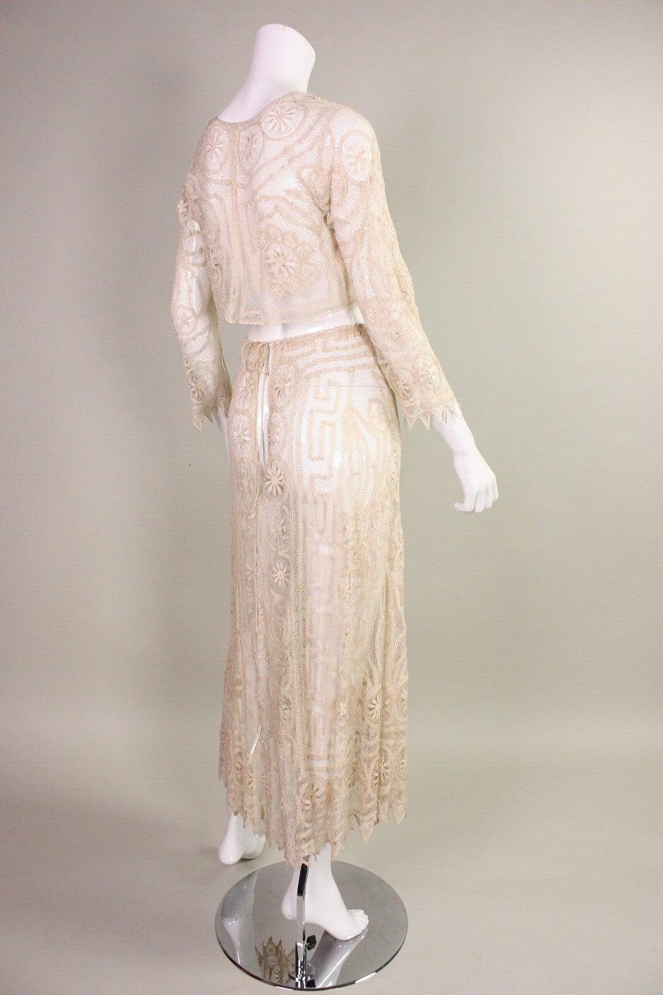 1930's Cream Cotton Lace Ensemble 4