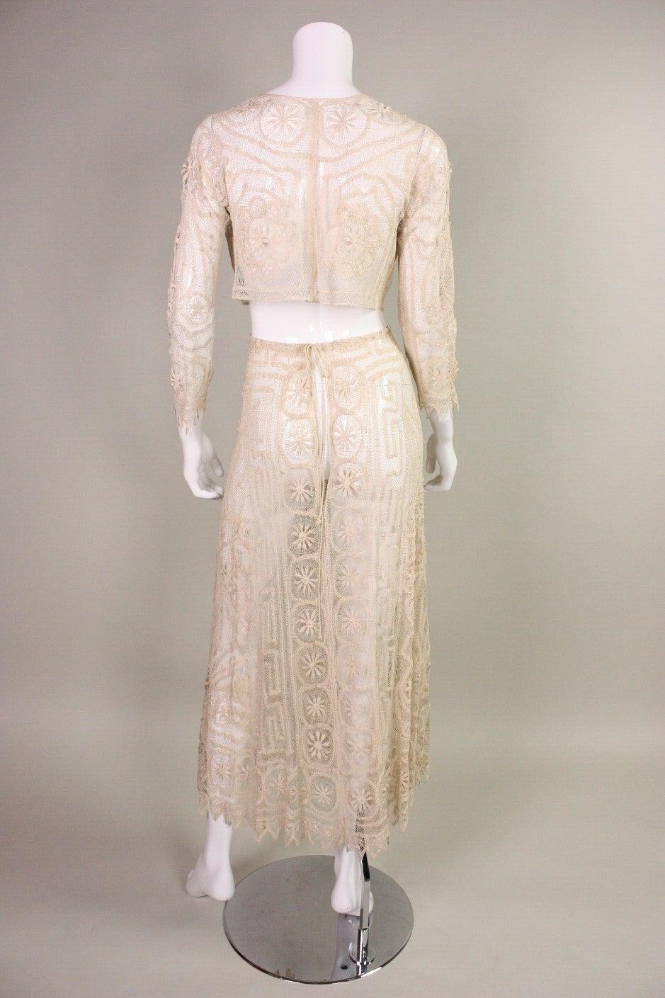 1930's Cream Cotton Lace Ensemble 5