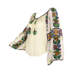 1930's Eastern European Embroidered Blouse