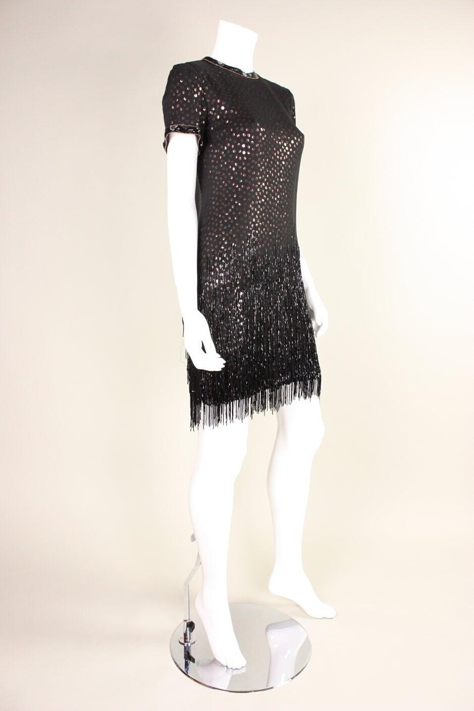 1980s Bob Mackie Sequined Dress with Beaded Fringe 3