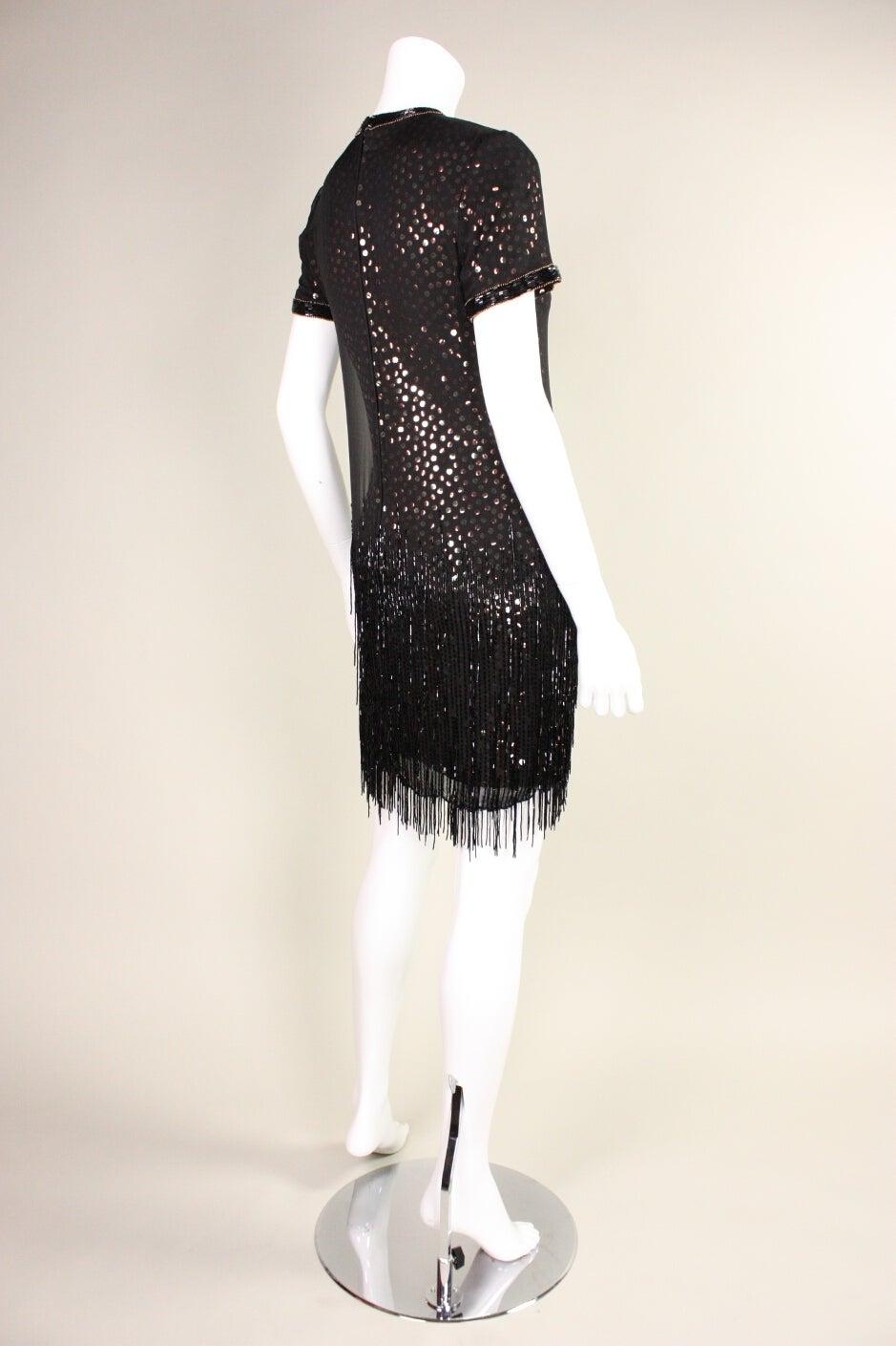 1980s Bob Mackie Sequined Dress with Beaded Fringe 4