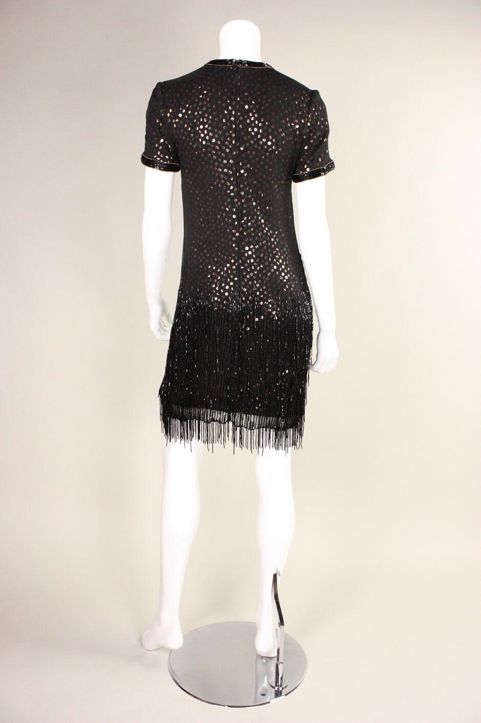 1980s Bob Mackie Sequined Dress with Beaded Fringe 5