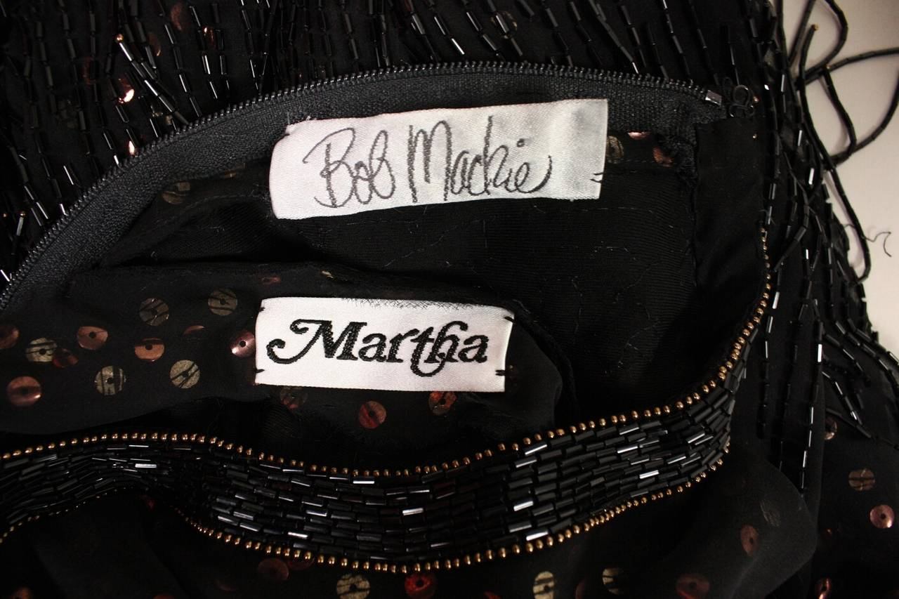 1980s Bob Mackie Sequined Dress with Beaded Fringe 8