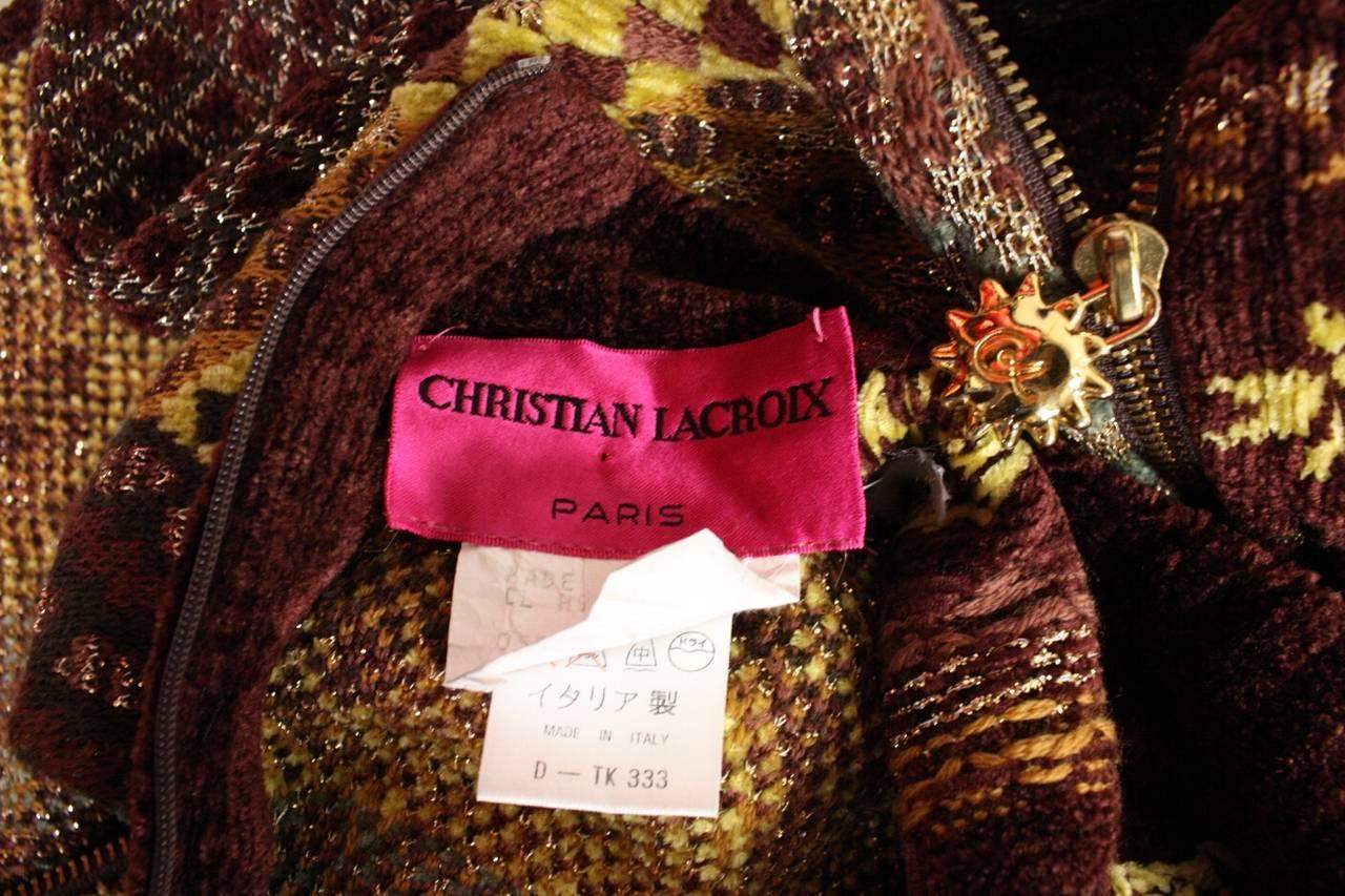 1990's Christian Lacroix Patchwork Knit Gown 8