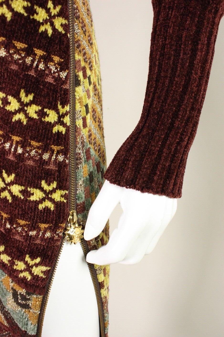 1990's Christian Lacroix Patchwork Knit Gown 7
