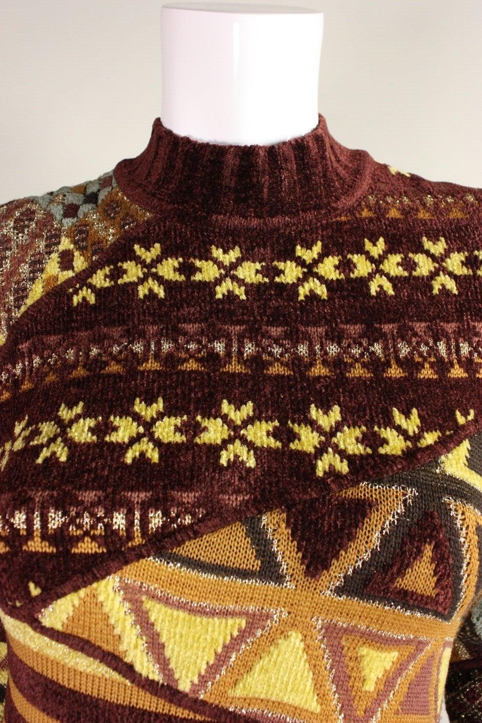 1990's Christian Lacroix Patchwork Knit Gown 6