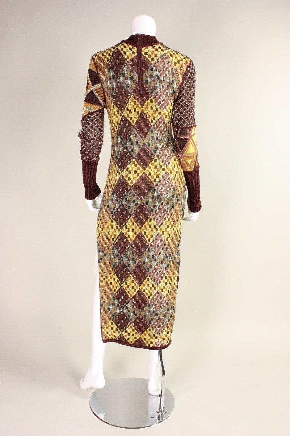 1990's Christian Lacroix Patchwork Knit Gown 5