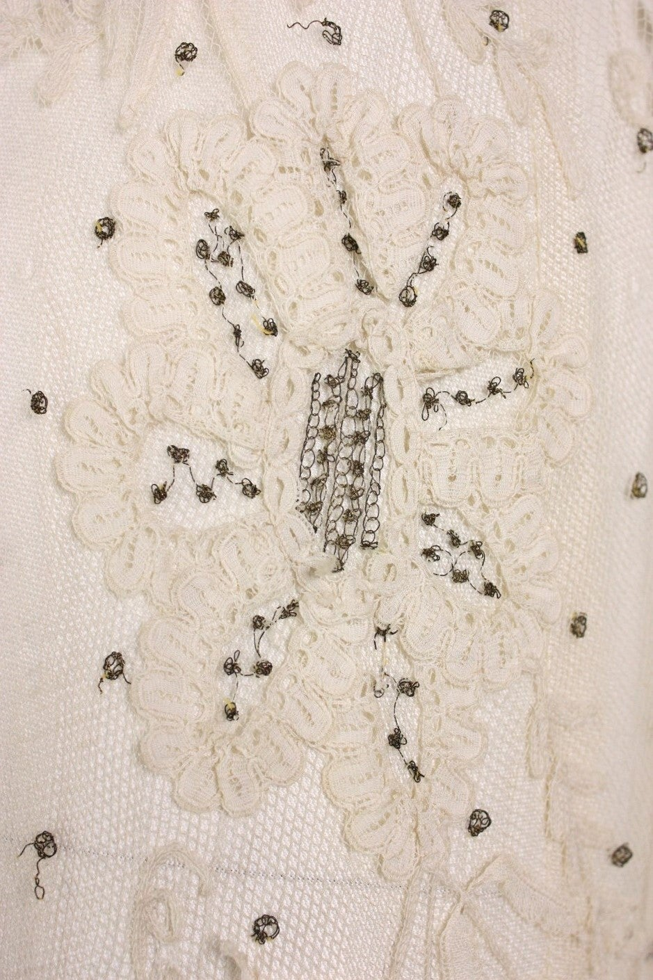 Edwardian Ivory Lace Tea-Length Gown 7