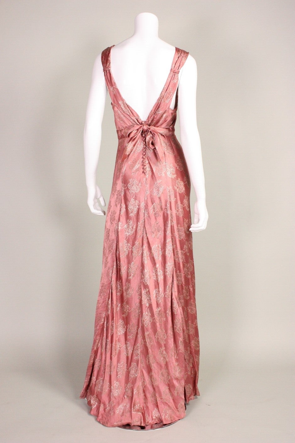 1930 s mauve lam bias cut gown for sale at 1stdibs