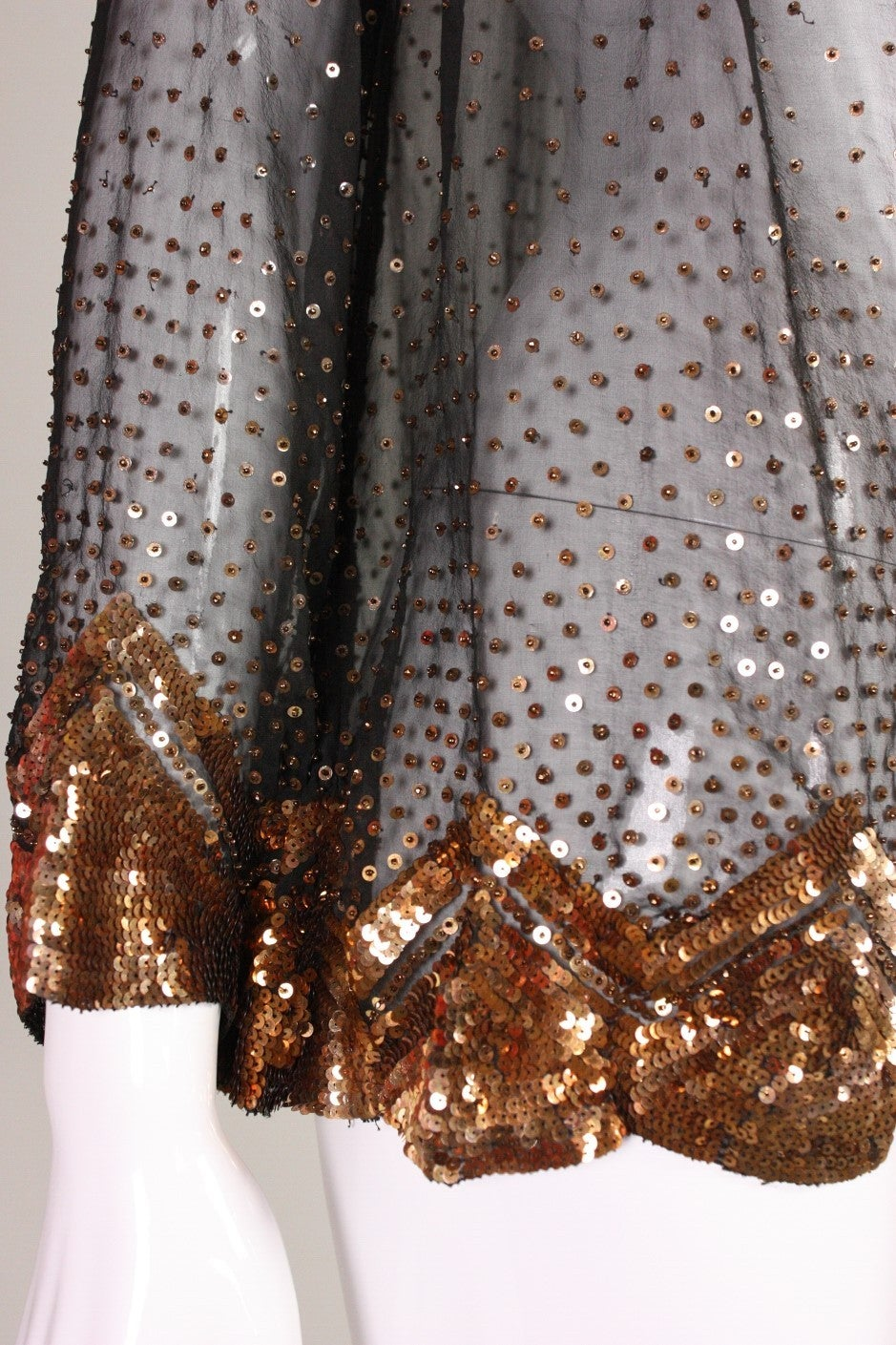 1920's/1930's Sequined Silk Chiffon Jacket 5