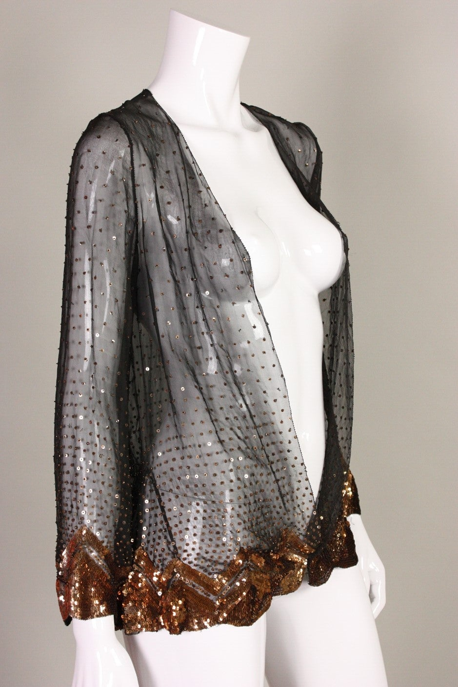 1920's/1930's Sequined Silk Chiffon Jacket 3