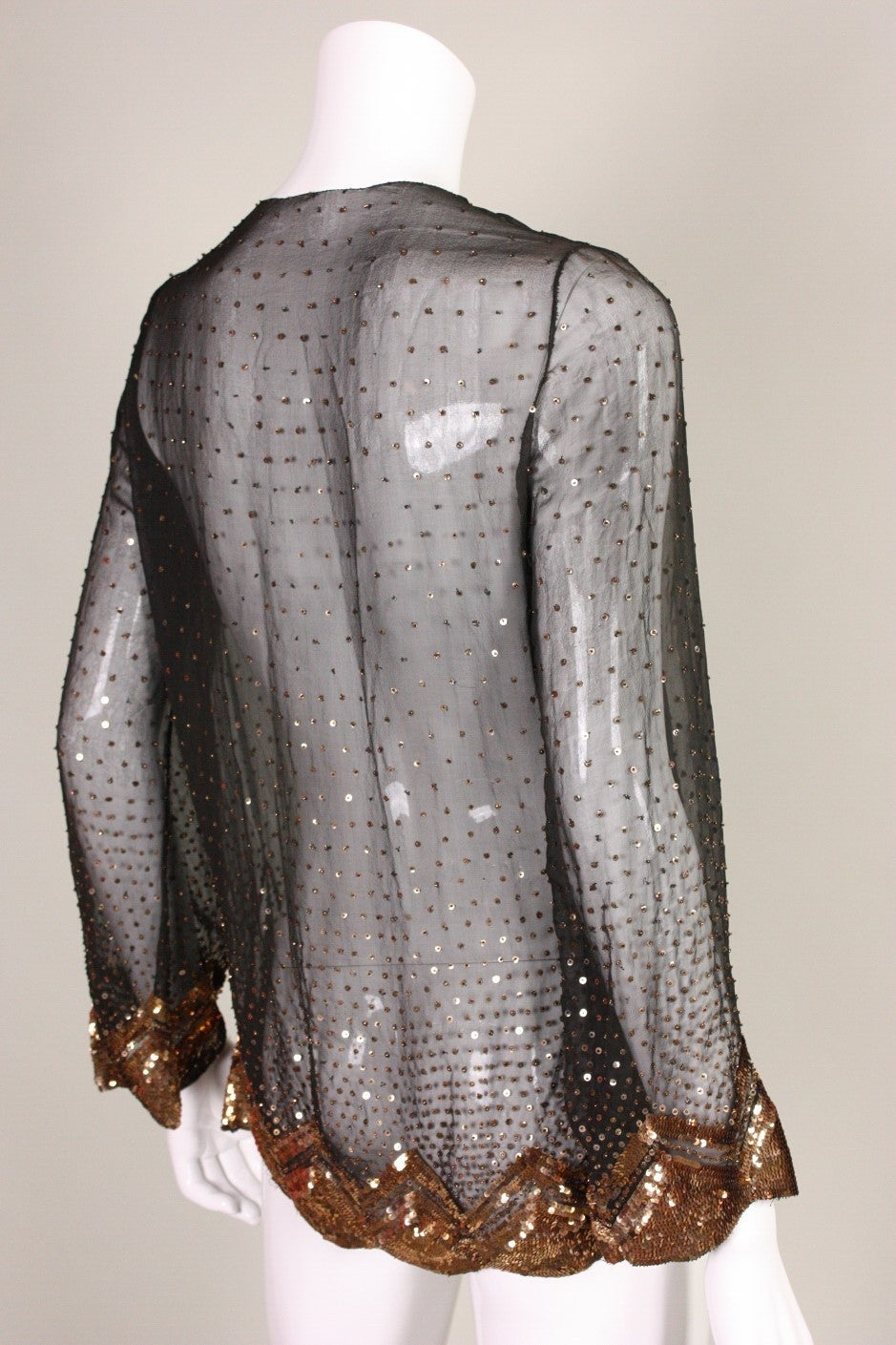 1920's/1930's Sequined Silk Chiffon Jacket 4
