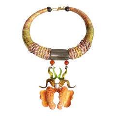 1970's Alex & Lee Orchid Necklace