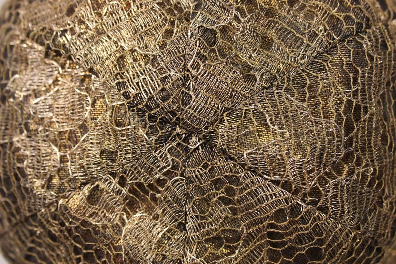 1920's Metallic Lace & Gold Bullion Cloche 8