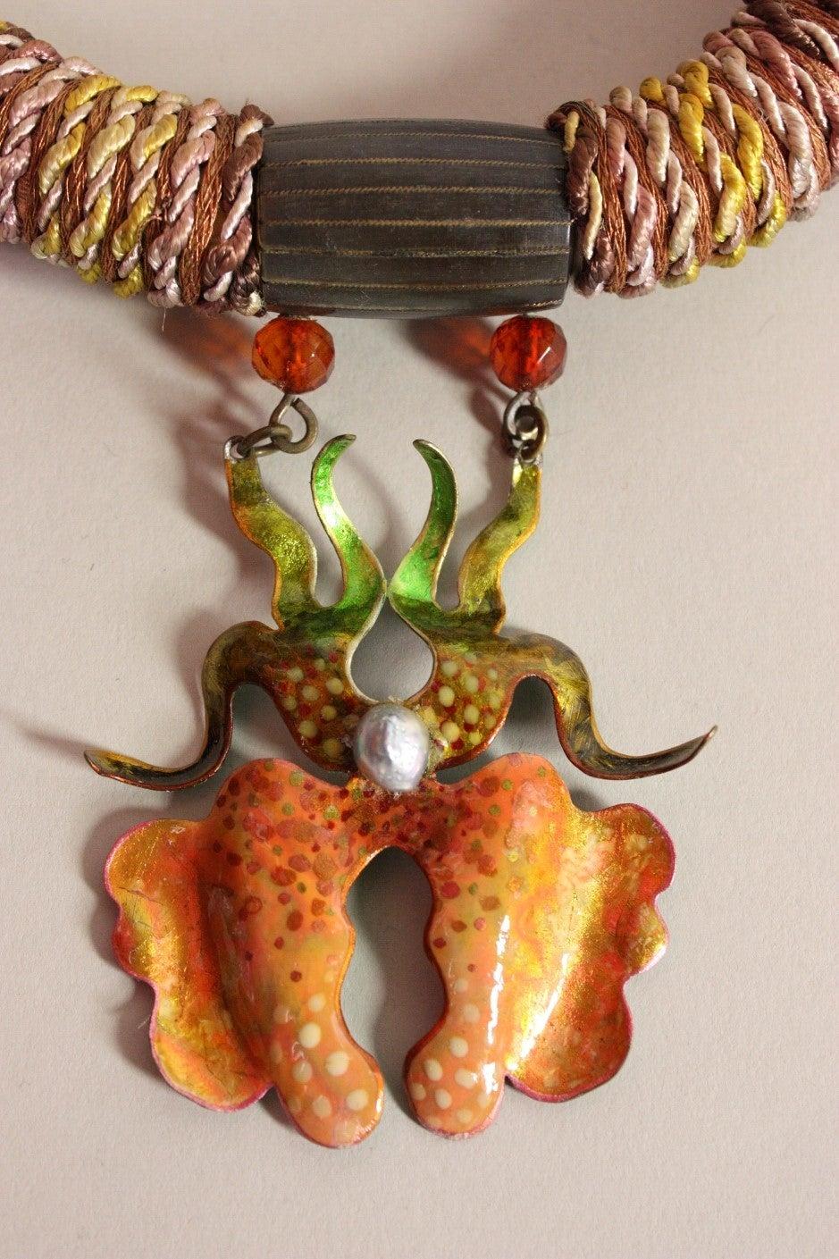 1970's Alex & Lee Orchid Necklace 3