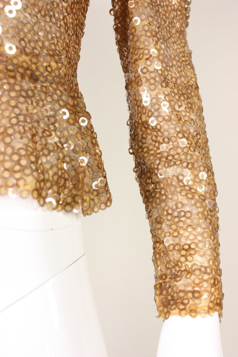 1930's Sparkling Gold Sequined Jacket 7