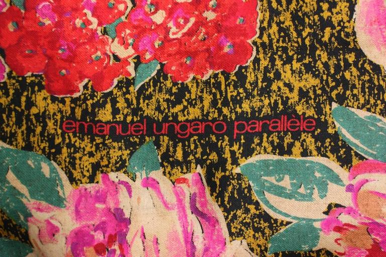 Women's 1980's Emanuel Ungaro Floral Shawl For Sale