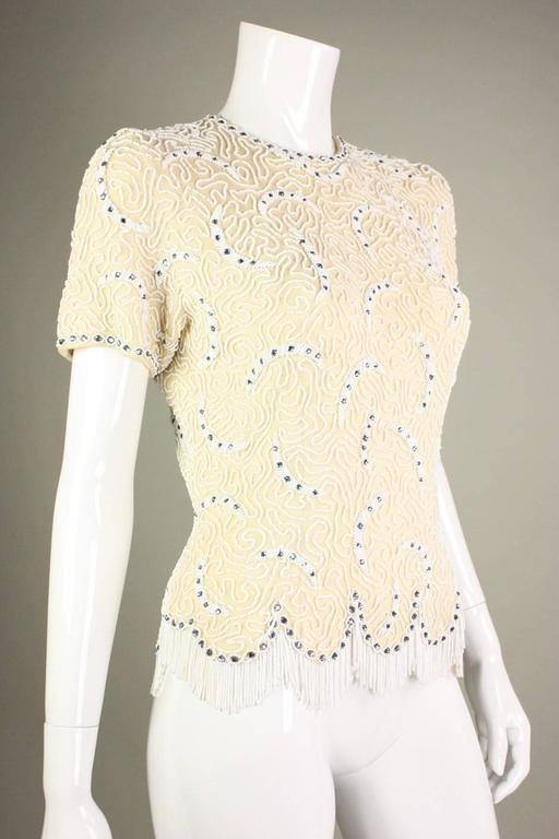 1950's Elsie Tu Beaded Sweater 2