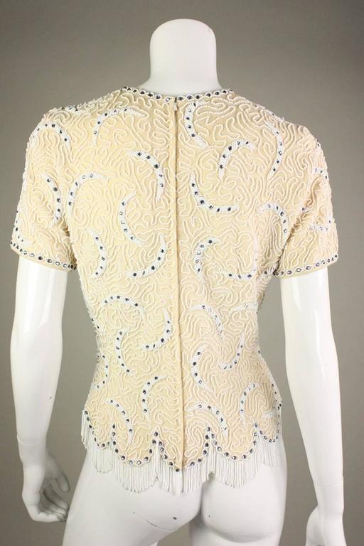 1950's Elsie Tu Beaded Sweater 4