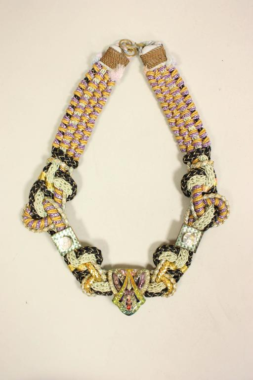 1970's Alex & Lee Braided Necklace 6
