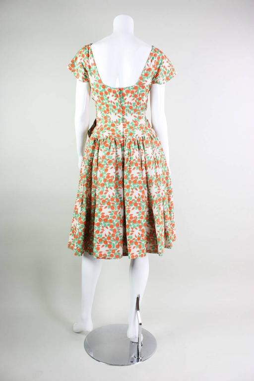 1950's Floral Printed Day Dress 4
